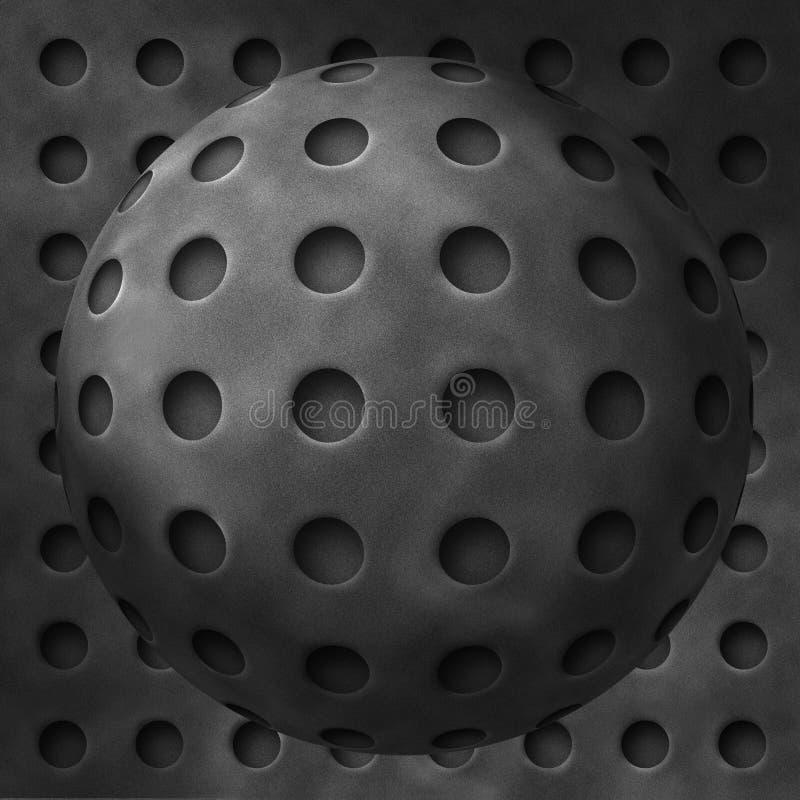 göra sammandrag bollhålmetall vektor illustrationer