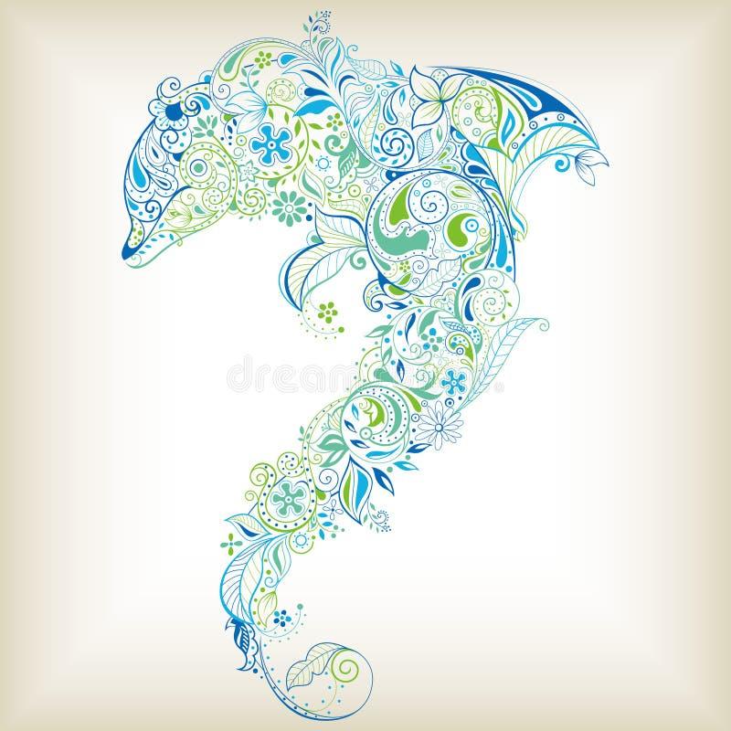 göra sammandrag den blom- fisken royaltyfri illustrationer