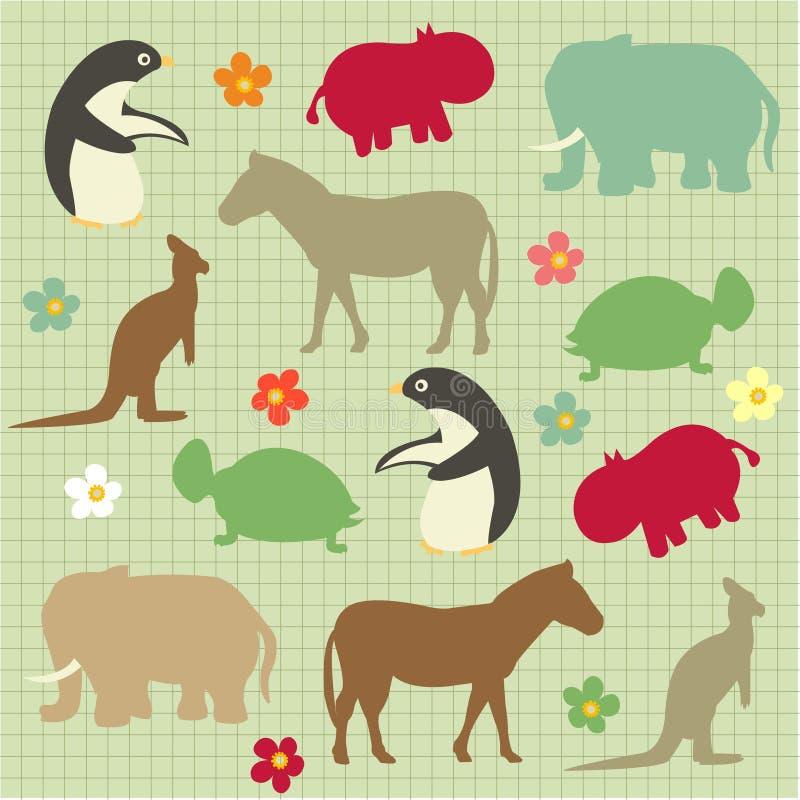 göra sammandrag den djura naturliga modellen vektor illustrationer