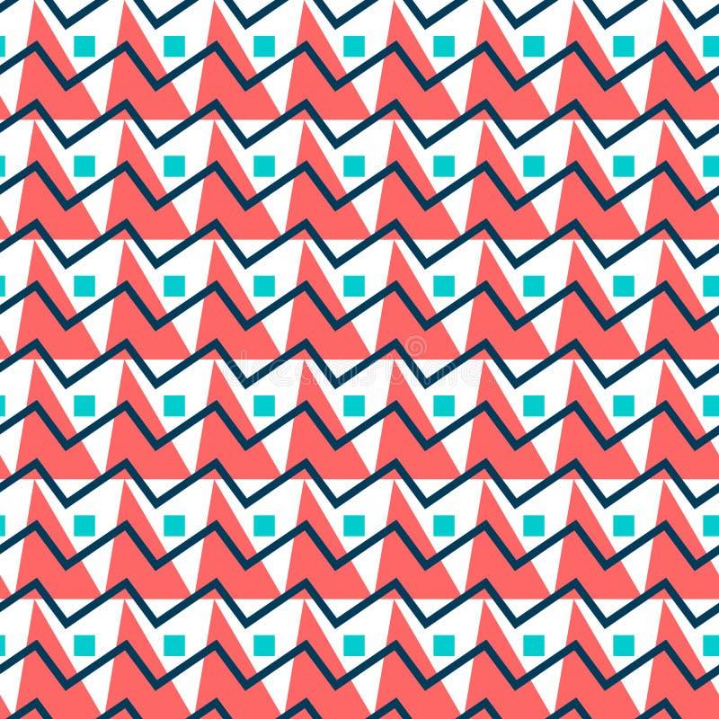 göra sammandrag den seamless geometriska modellen Enkel triangelbakgrund royaltyfri illustrationer