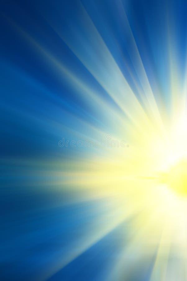 Gry och sun'sens strålar arkivbild
