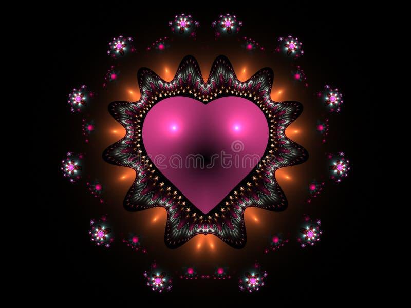 göra sammandrag hjärtapinken royaltyfri illustrationer