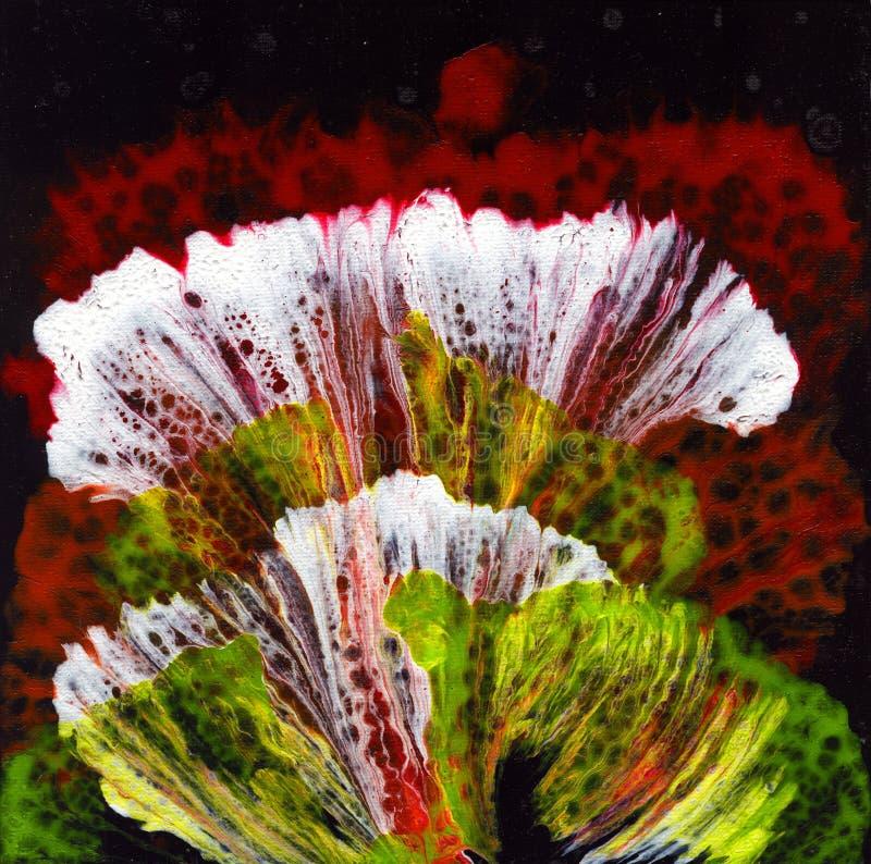 göra sammandrag konst abstrakt bild En bild i tekniken av vätskeakryl stock illustrationer