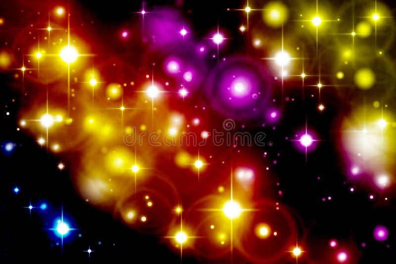 Göra sammandrag mång--färgad bakgrund, ljusa effekter, ljust mång--c royaltyfri illustrationer