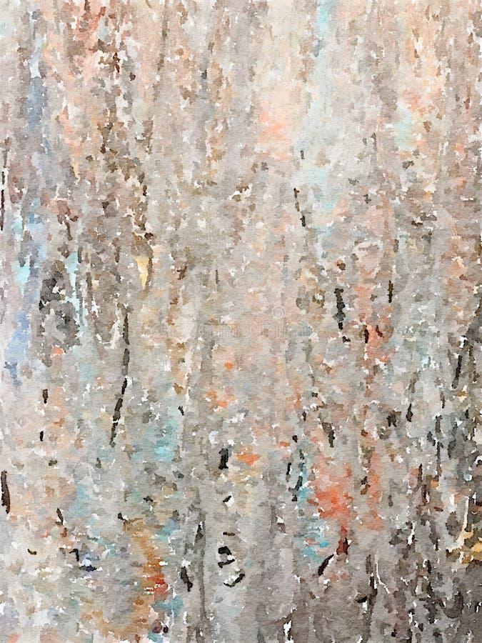 Göra sammandrag mång--färgad vattenfärgen målad bakgrund i subtila grå färg- och bruntfärger stock illustrationer