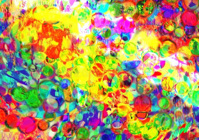 Göra sammandrag mångfärgad bakgrund Defocused abstrakt bakgrund för lutning gammal texturvägg för tegelsten royaltyfri illustrationer