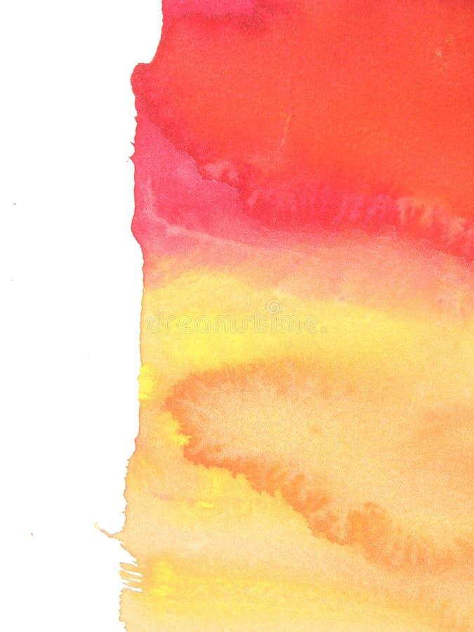 göra sammandrag röd yellow för bakgrundsmålarfärg royaltyfri illustrationer
