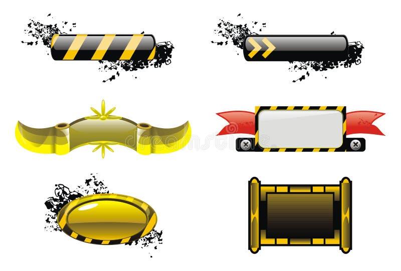 göra sammandrag svart blank yellow för applikationen vektor illustrationer