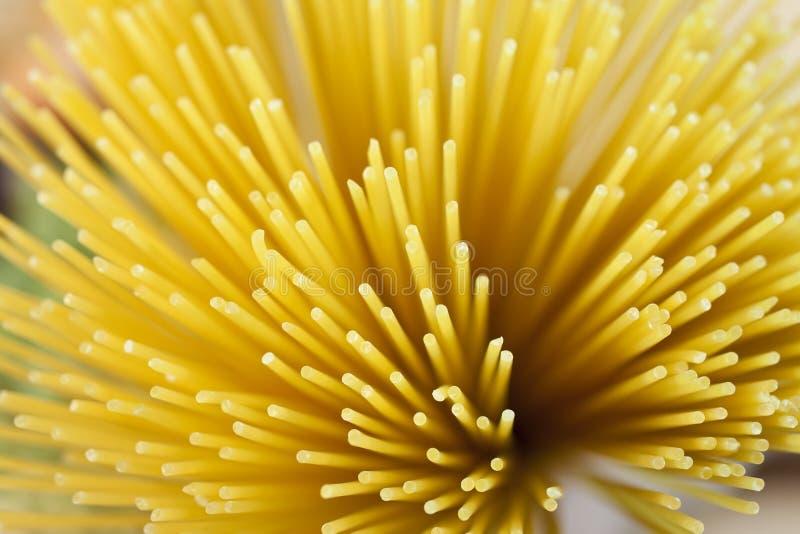 Göra sammandrag torkad pasta skjuten spagetti