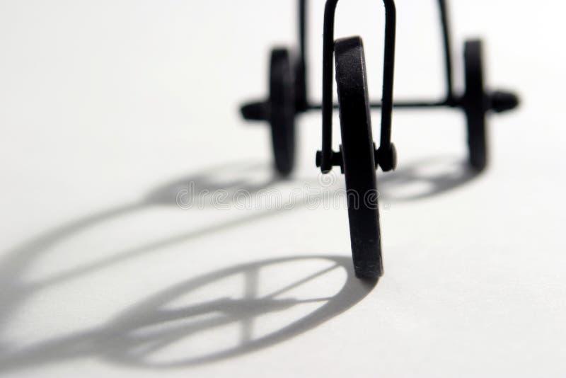 göra sammandrag trehjulingen arkivbilder
