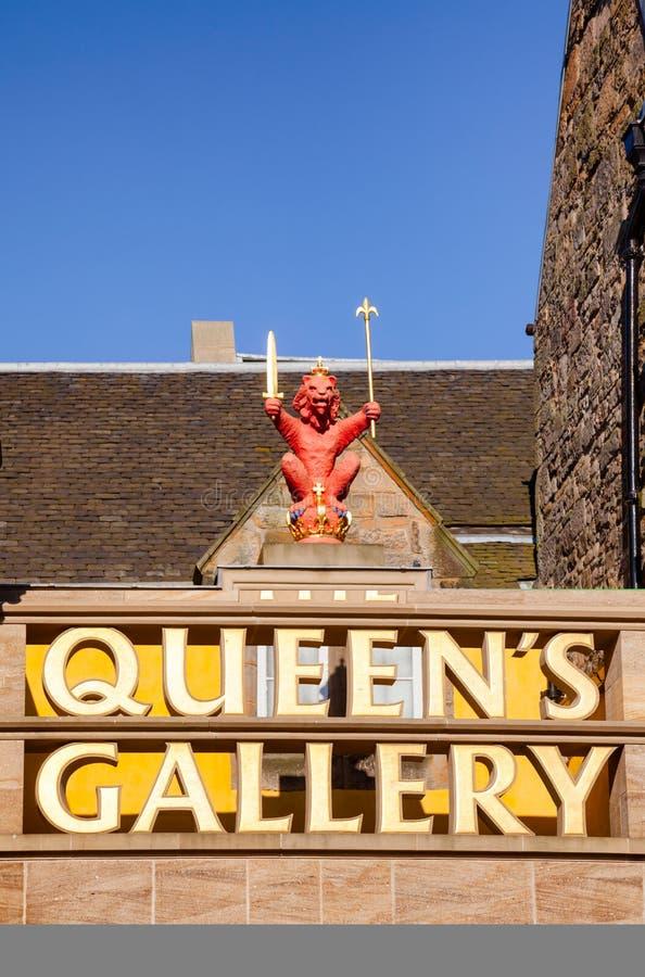 Göra till drottning för galleriID-Märket för ` s Edinburg Skottland UK för staden den gamla royaltyfria foton