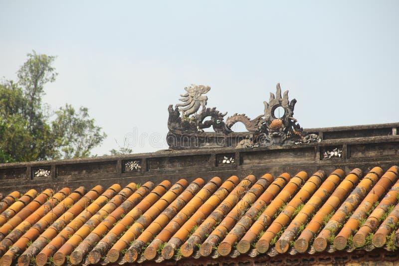 Göra till kung gravvalvet för Gia Long ` s, grundaren av Nguyen Dynasty, tonen, Vietnam arkivfoton