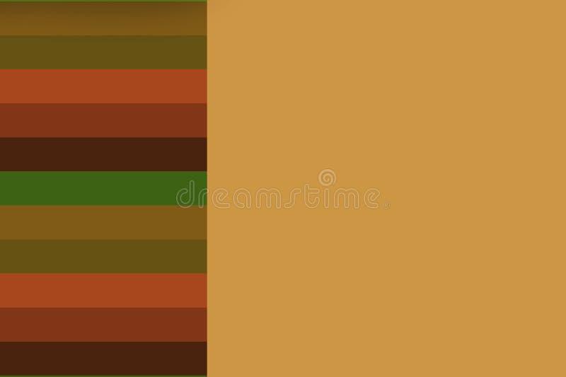 görad randig bakgrund som färgas matt bruna band vektor illustrationer