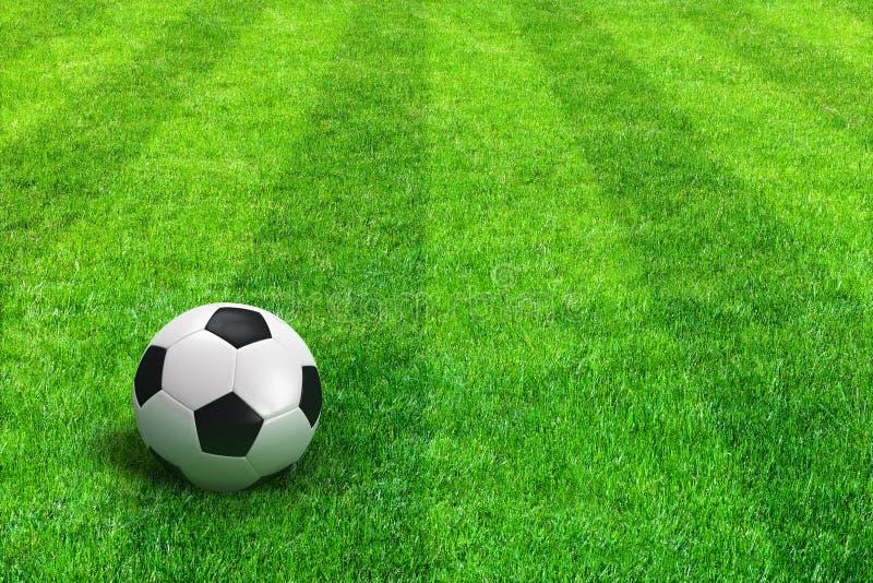 görad randig fotboll för green för fotboll för bollfält stock illustrationer