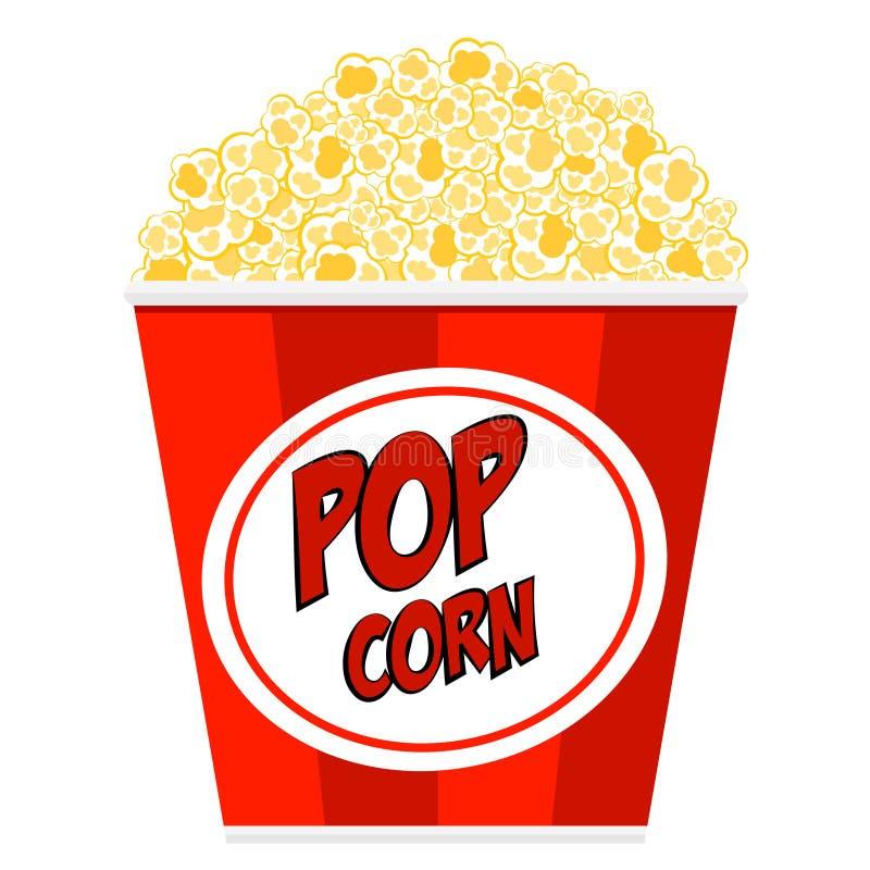 görad randig popcorn badar vektor illustrationer