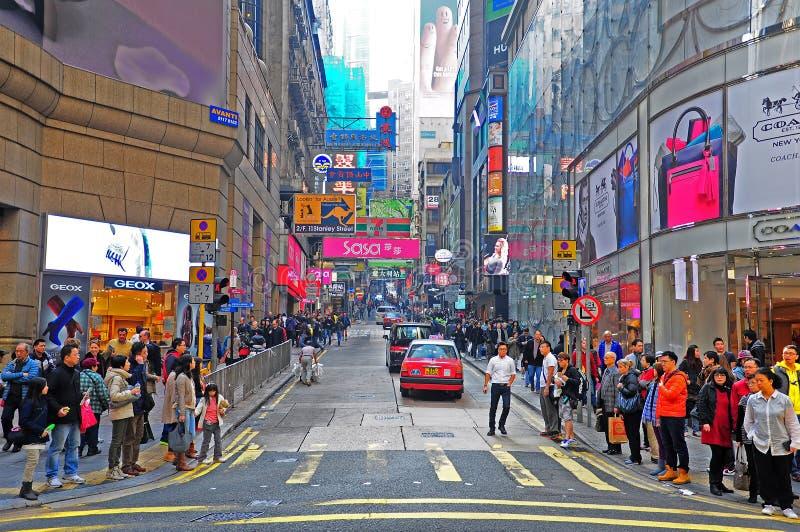 Görar till drottning vägen, Hong Kong royaltyfri bild