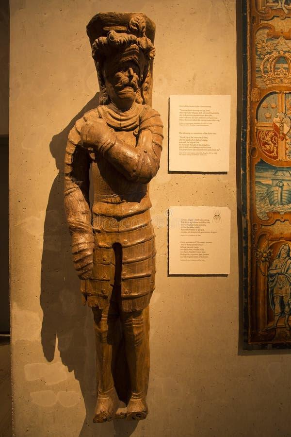 Götar warrior in 17th century armor stock image
