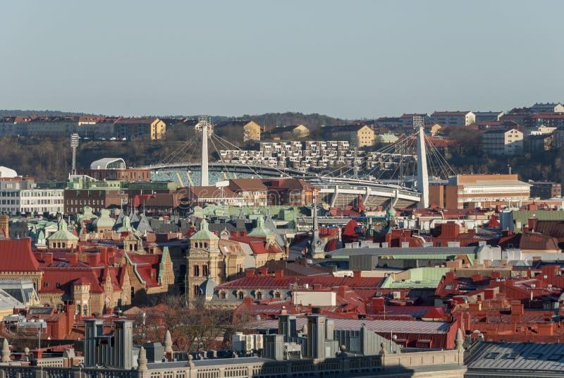 Göteborg stadssikt från över royaltyfria foton