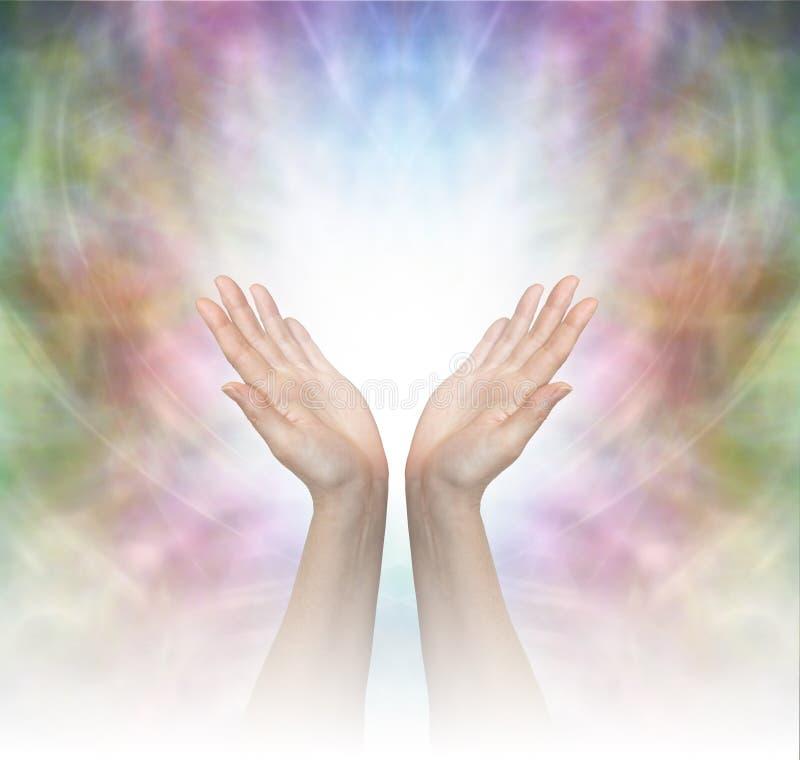 Göttliche heilende Energie stockbilder