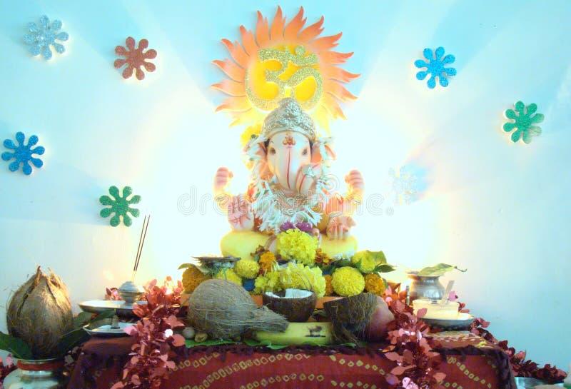 Göttlicher Frieden Ganpati stockbild