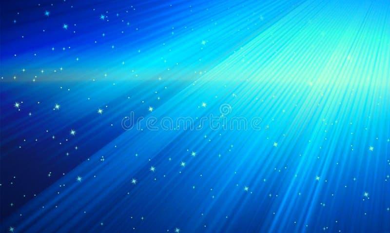 Göttliches Licht im blauen Hintergrund lizenzfreie stockfotos