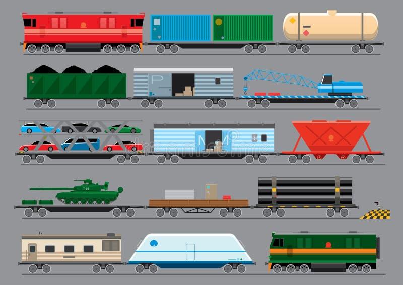 Güterzüge stock abbildung