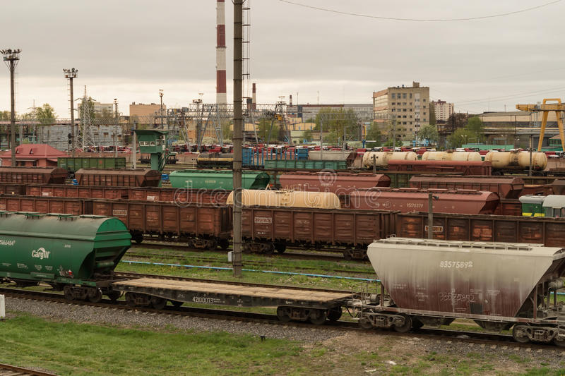 Güterzüge stockbilder