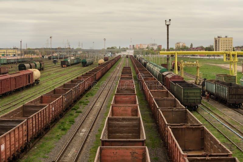 Güterzüge stockfoto