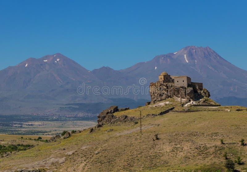 The wonderful landscape of Güzelyurt, Aksaray, Turkey royalty free stock photo