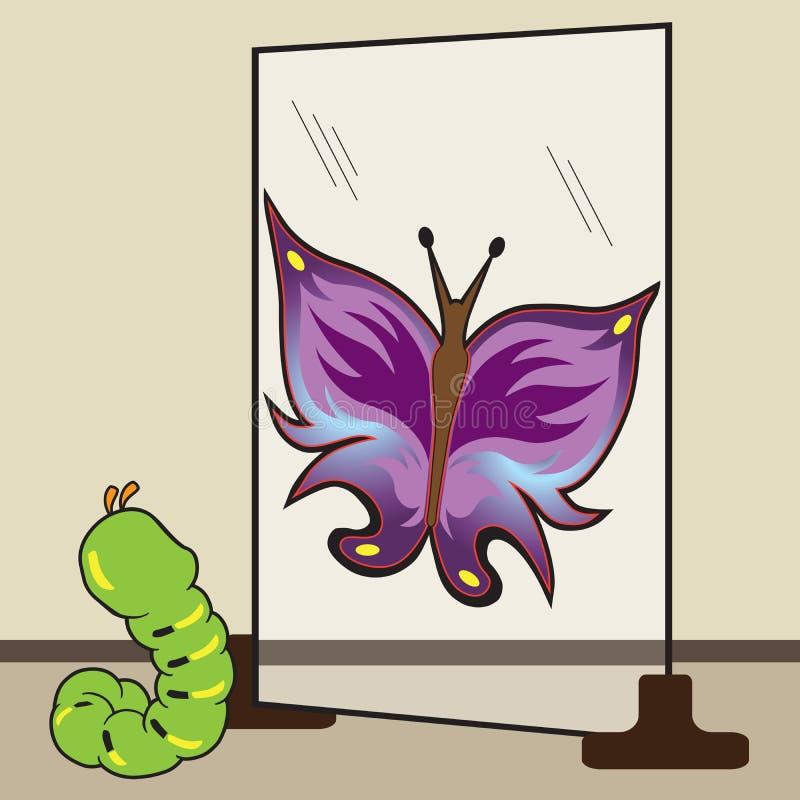 Gąsienicowa przyszłość ilustracji