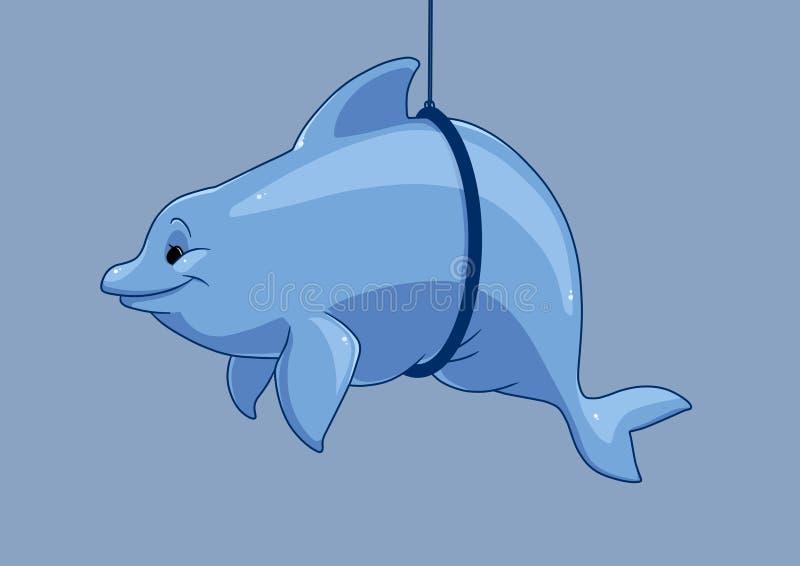 Gęsta delfin kreskówka ilustracji