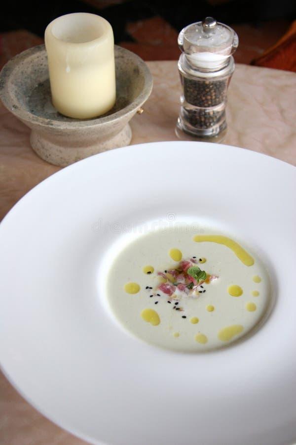 gęsta zupa rybna tuńczyka zdjęcie stock