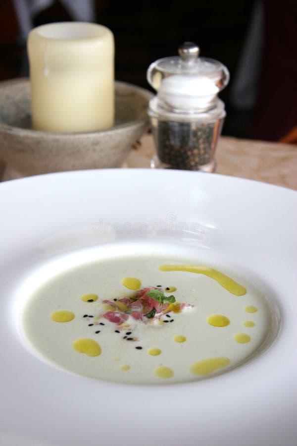 gęsta zupa rybna tuńczyka obraz stock