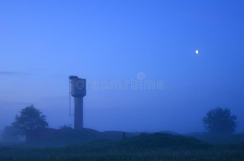 Gęste lato ranku mgły obrazy stock