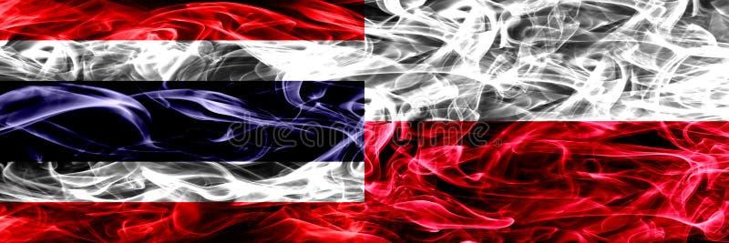 Gęsty abstrakt barwił silky dymne flagi obraz royalty free