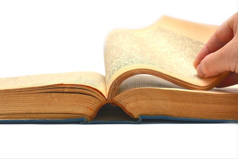 Gęsty antyczny książkowy czytanie fotografia royalty free