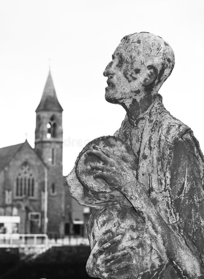 Głód statuy w Dublin, Irlandia obrazy royalty free
