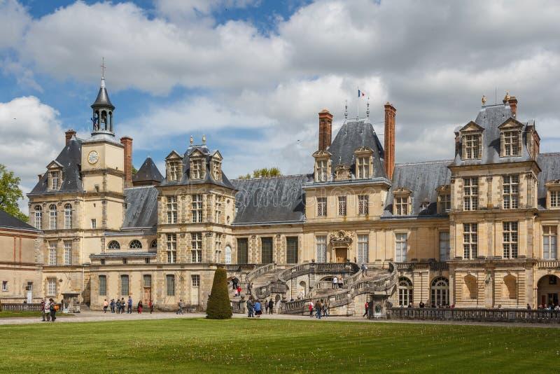 Główna fasada Fontainebleau fotografia stock