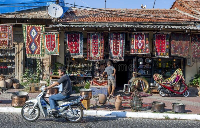 Główna ulica Bergamy w Turcji fotografia stock