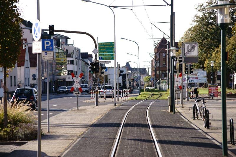 Główna ulica Griesheim zdjęcia stock