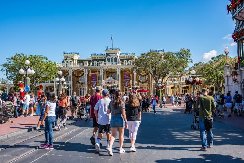 Główna Ulica usa przy Magicznym królestwem, Walt Disney świat zdjęcie royalty free