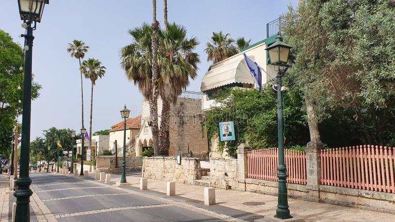 Główna ulica w zichron Yaakov Israel obrazy royalty free