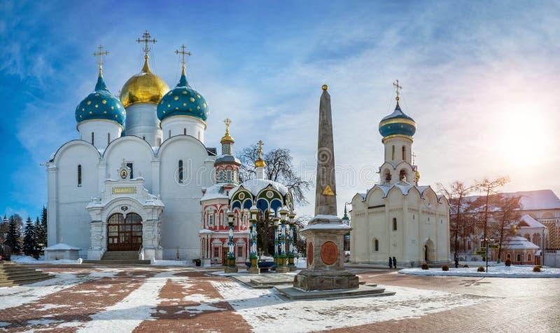 Główne świątynie Sergius Lavra zdjęcia stock