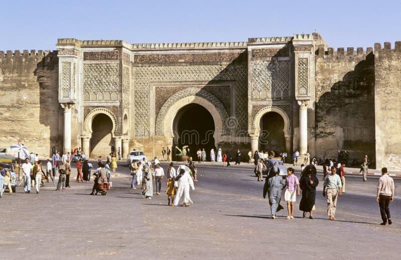 główne meknes bramę zdjęcia royalty free
