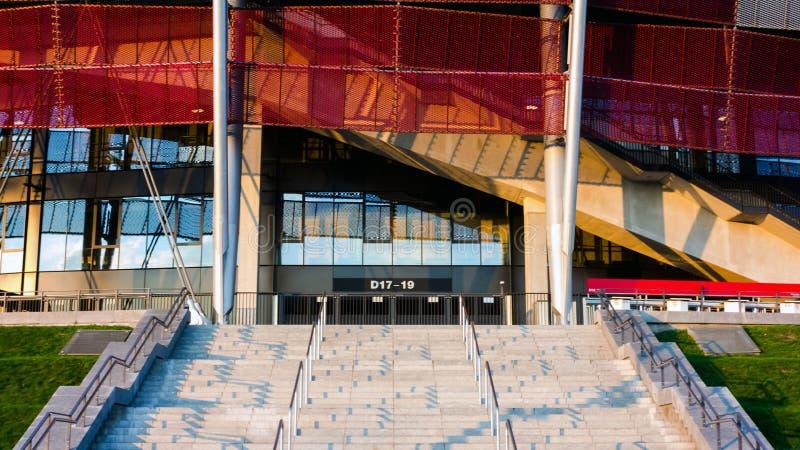 Główne wejście Krajowy stadium w Warszawa, Polska fotografia stock