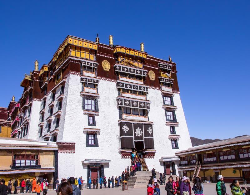 Główne wejście Potala pałac - Lhasa, Tybet obraz royalty free