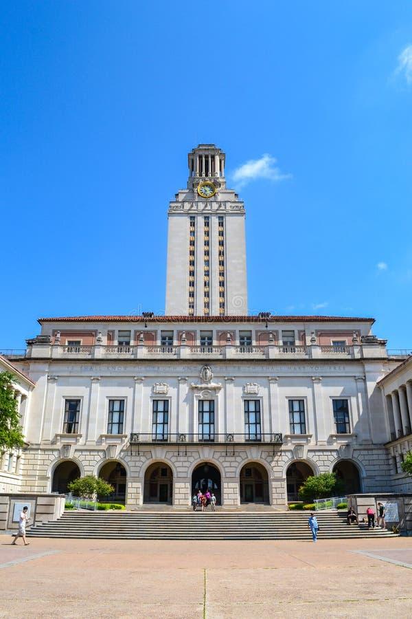 Głównego budynku UT wierza przy uniwersyteta teksańskiego Austin szkoły wyższa kampusem zdjęcie royalty free