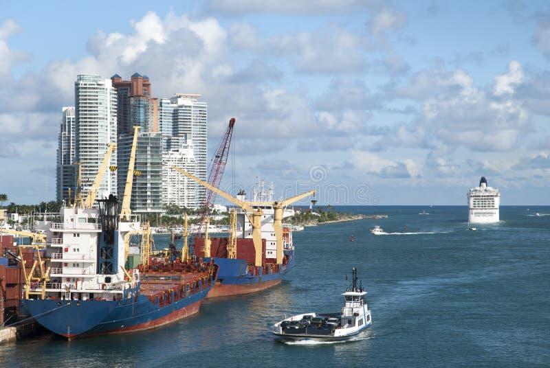 Głównego kanału Wodny ruch drogowy zdjęcie royalty free