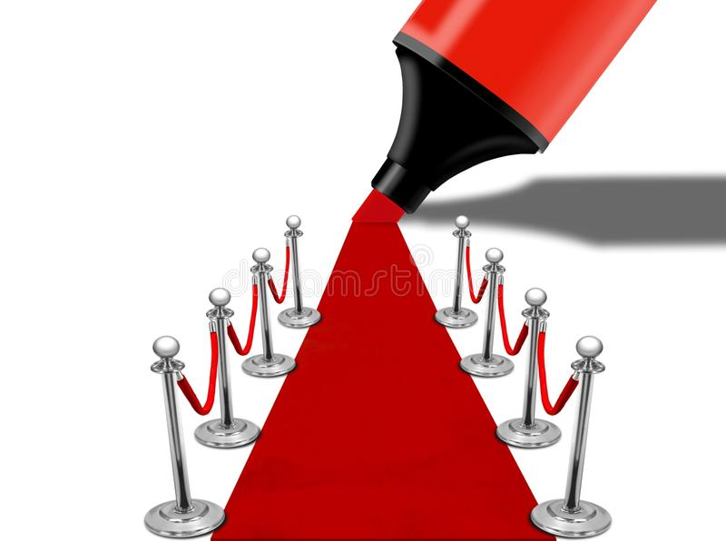 głównej atrakci dywanowa czerwień ilustracja wektor