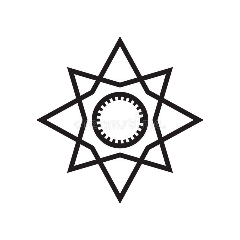 Główni punkty na wiatru symbolu ikony wektoru gwiazdowym znaku i symbolu odizolowywających na białym tle, Główni punkty na wiatra royalty ilustracja